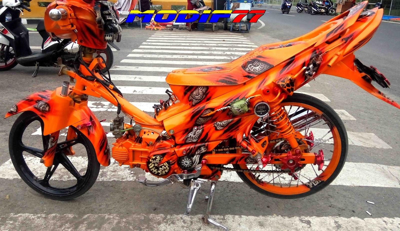 Koleksi Modifikasi Motor Jupiter Z Warna Orange Terlengkap Pojok