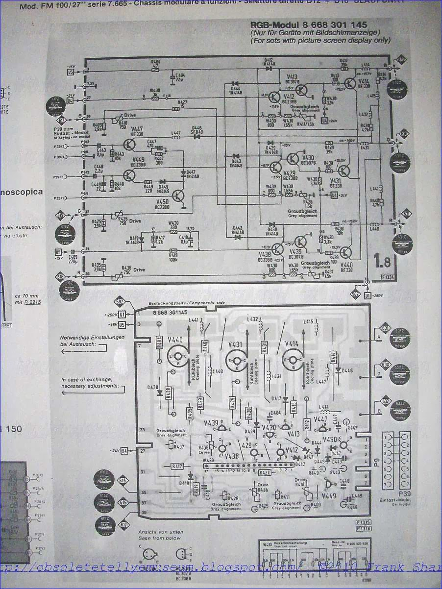 Obsolete Technology Tellye Blaupunkt Colorado Color 7 665 814 7w Audio Amplifier Based Tba810 Circuit Diagram The Chassis Fm100c Was An Innovative Tv Set