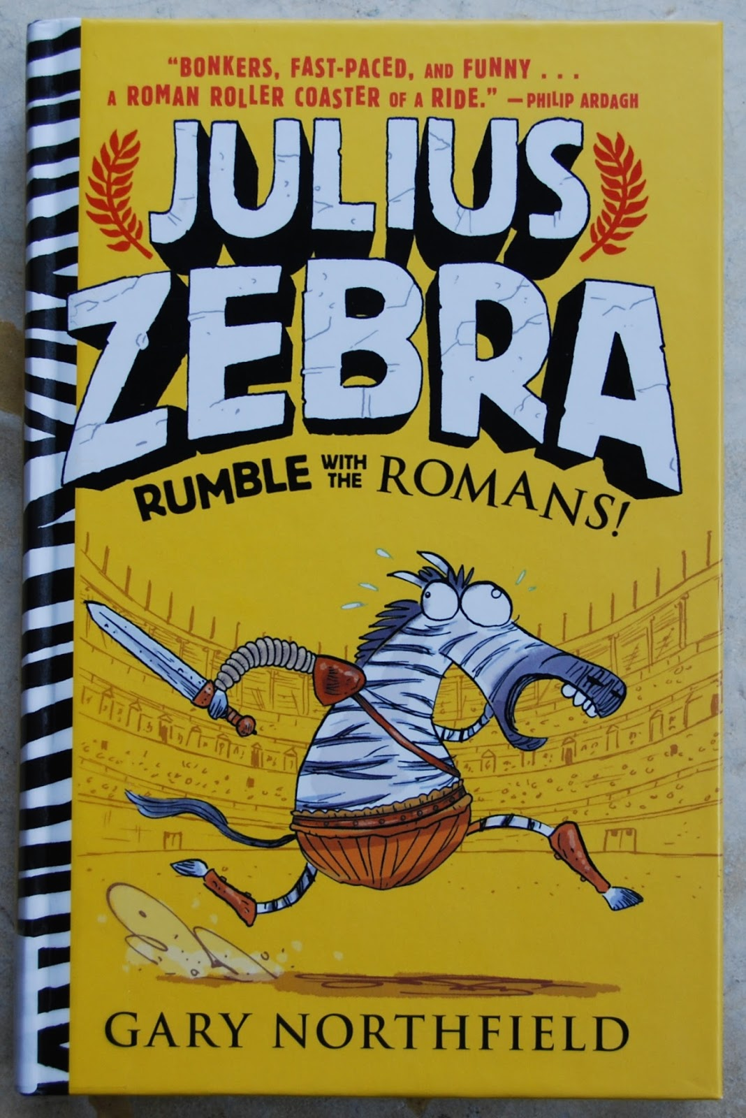 one great book julius zebra is gladiator fun for kids