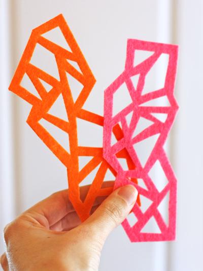 3 Easy Diy Storage Ideas For Small Kitchen: DIY Geometric Felt Bookmarks