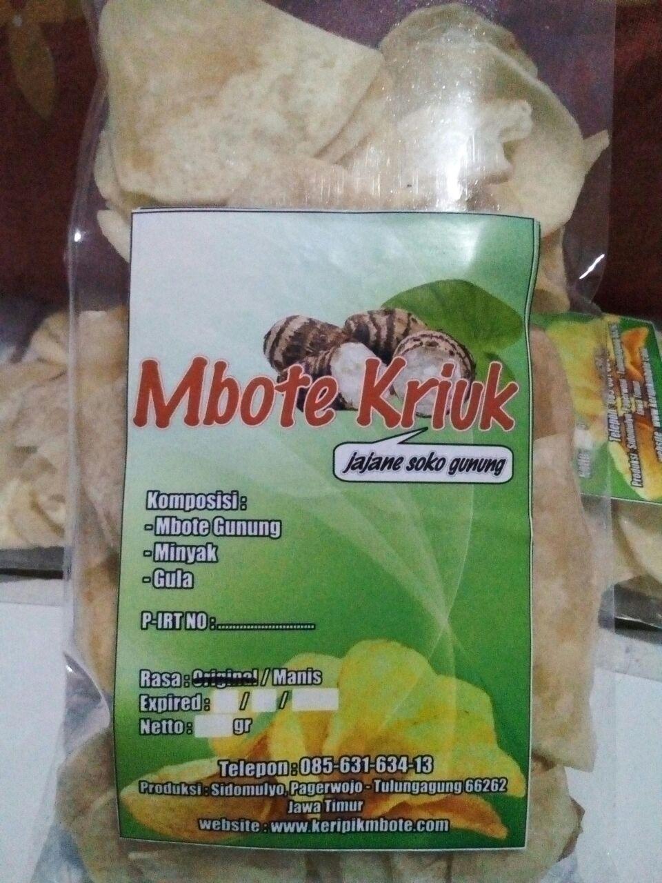 Keripik Mbote Talas Manis