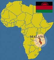 Ubicación de Malawi en Africa