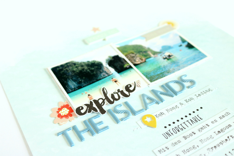 Explore The Islands | Scrapbooking Layout | Evelyn Wolff