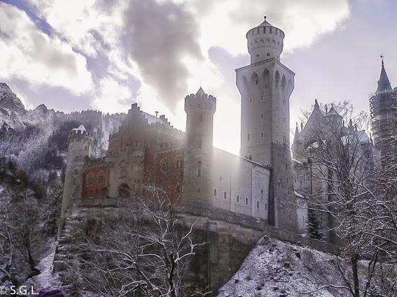 Vista del castillo del rey loco
