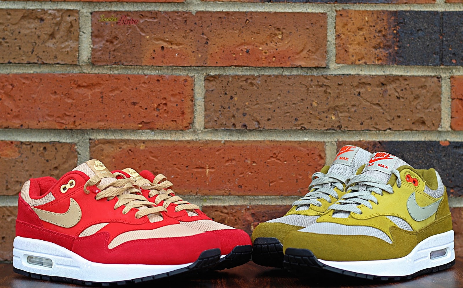 purchase cheap d821a 87ff3 SNEAKER BISTRO - Streetwear Served w Class Nike Air Max 1 Premium Retro  Red Curry  Green Curry