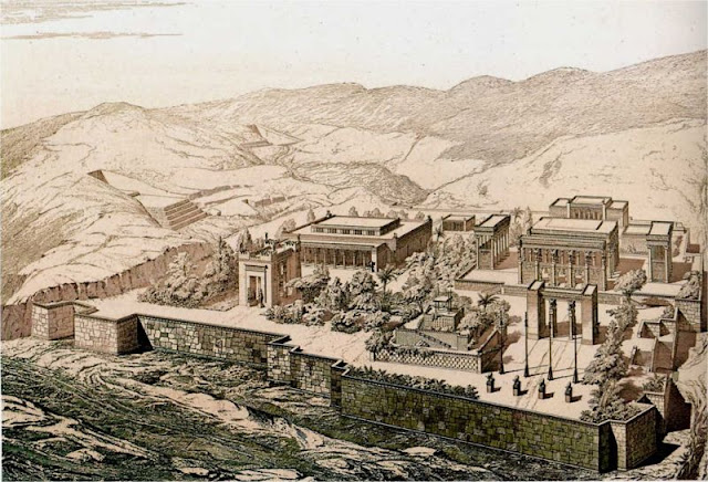 Bird eye view of Persepolis