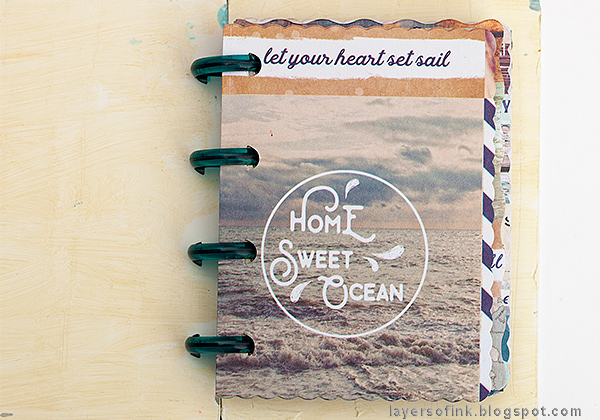 Layers of ink - Nautical Mini Album Tutorial by Anna-Karin Evaldsson with Prima Flower St Tropez papers