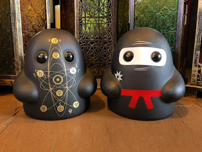 Space Cult & Ninja Ghost Editions Tiny Ghost Vinyl Figure by Reis O'Brien (of Bimtoy) x Bottleneck Gallery