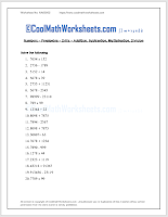 Printable Math Test