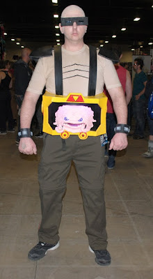 Krang: costume by Marc Dion, cosplayed by Bruce. 2016 Ottawa Comiccon.