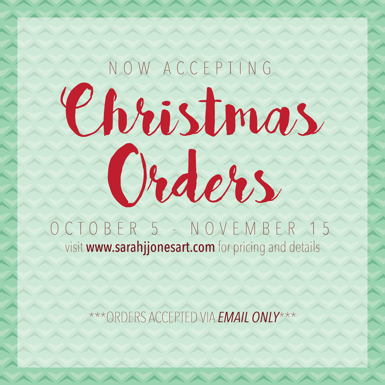 The Spinsterhood Diaries: Now Accepting Christmas Orders!