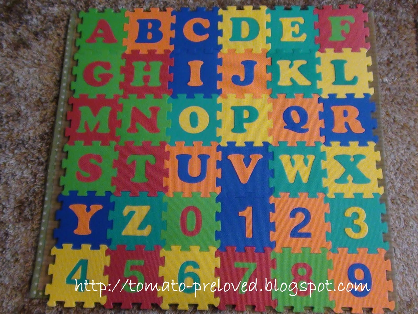 Tomato Preloved Foam Puzzle Mat
