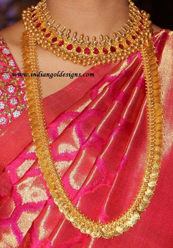 Gold and Diamond jewellery designs: kasulaperu designs
