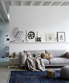 white side table grey sofa nordic design