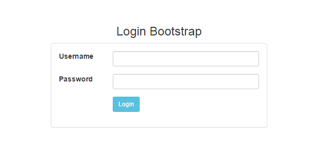 membuat form login dengan bootstrap