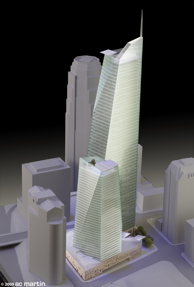Model of Wilshire Grand by AC Martin Partners, Los Angeles, USA
