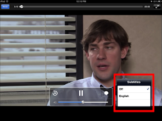 netflix screenshot showing list of languages in which captioning is available