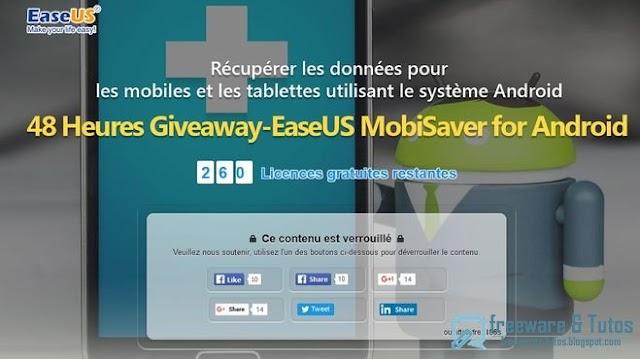Offre promotionnelle : EaseUS MobiSaver for Android 5.0 gratuit !