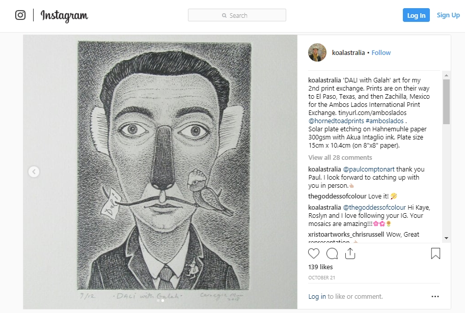 Ambos Lados International Print Exchange: Instagram Assist