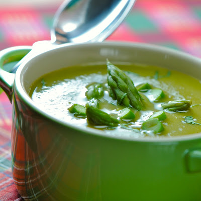 Velvety Cream of Asparagus Soup...non dairy