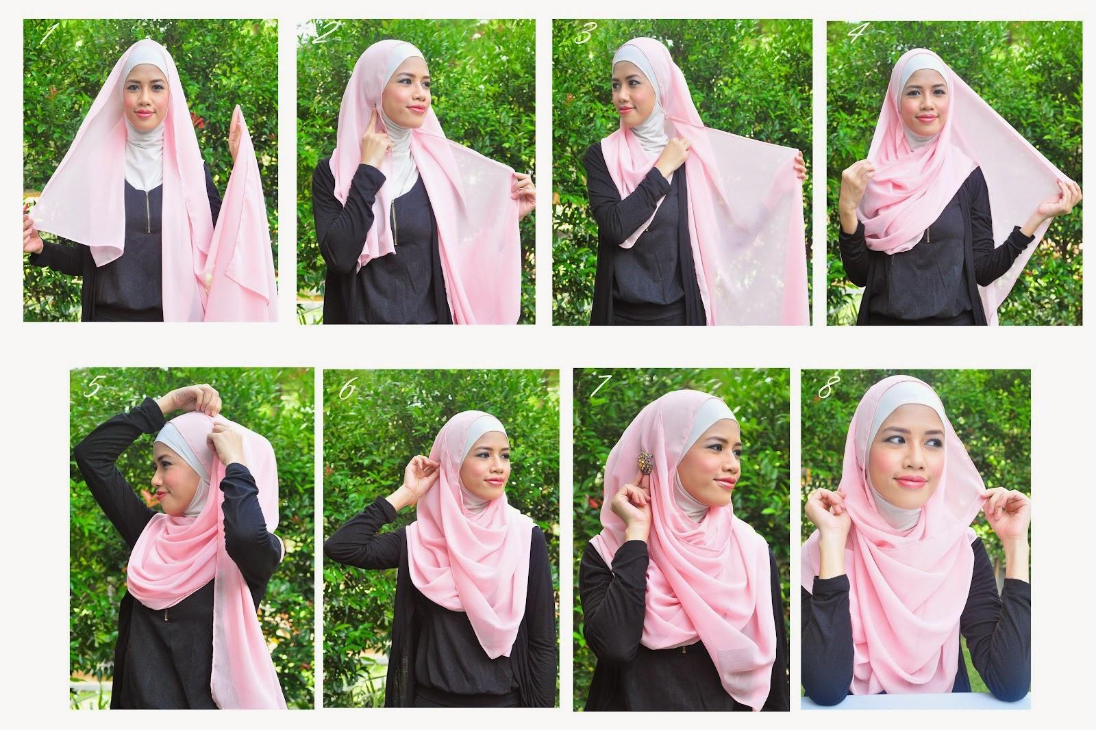 28 Gambarnya Tutorial Hijab Pesta Yang Syari Terupdate Tutorial