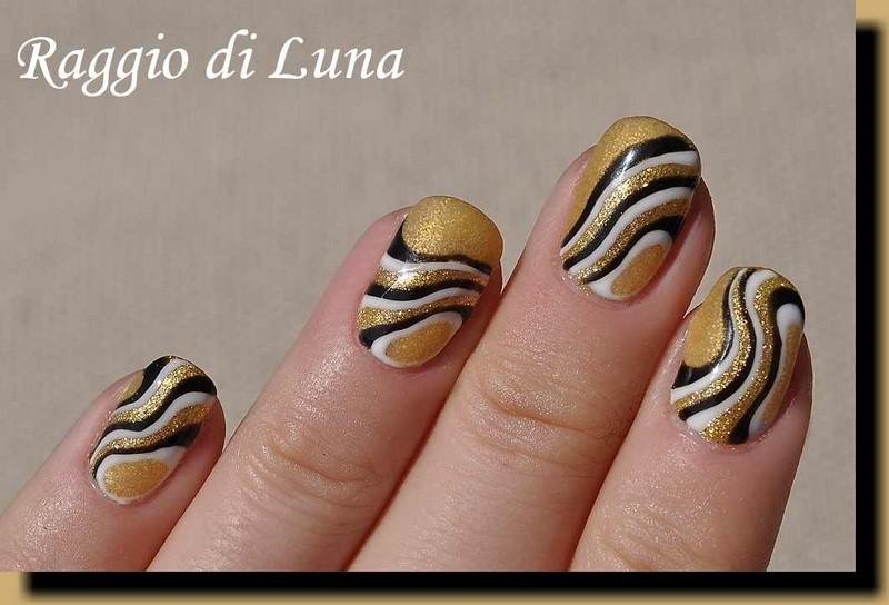 Raggio di Luna Nails: UV gel manicure with free hand nail art ...