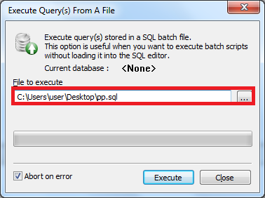sqlyog - Execute Query(s) From A File
