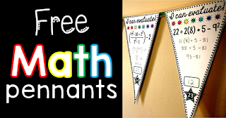 Have you wanted to give math pennants a try? Here is a blog post with links to three free math pennants for you to print today.