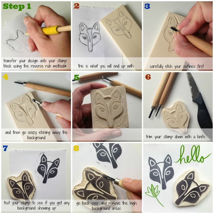 Design Your Own Rubber Stamp: Here's A Bit Of A Tutorial I Put Together For You