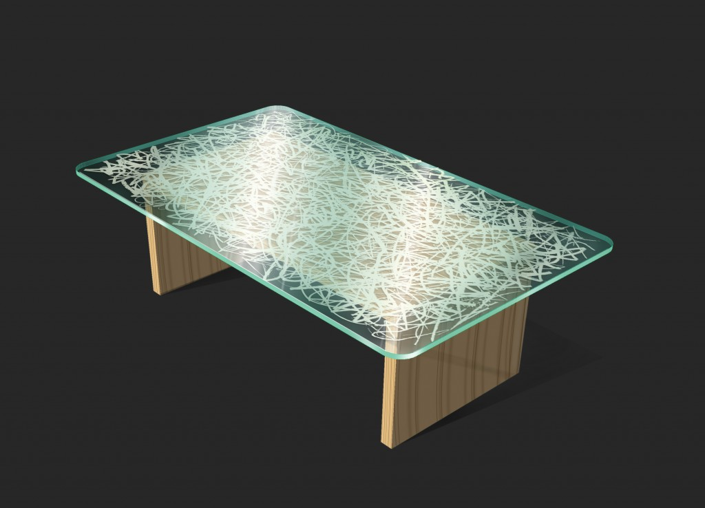 Japanese Rice Paper Laminated In Glass Decorative Glass