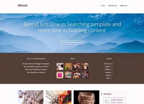 minuet corporat business blogger template 2014 for blogspor or blogger