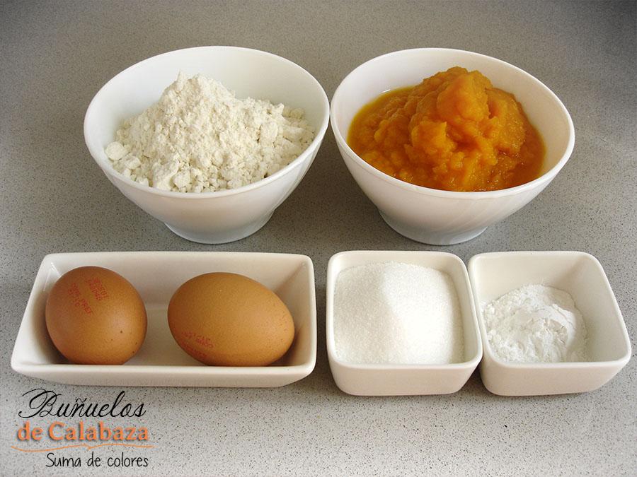 Buñuelos de calabaza-Ingredientes
