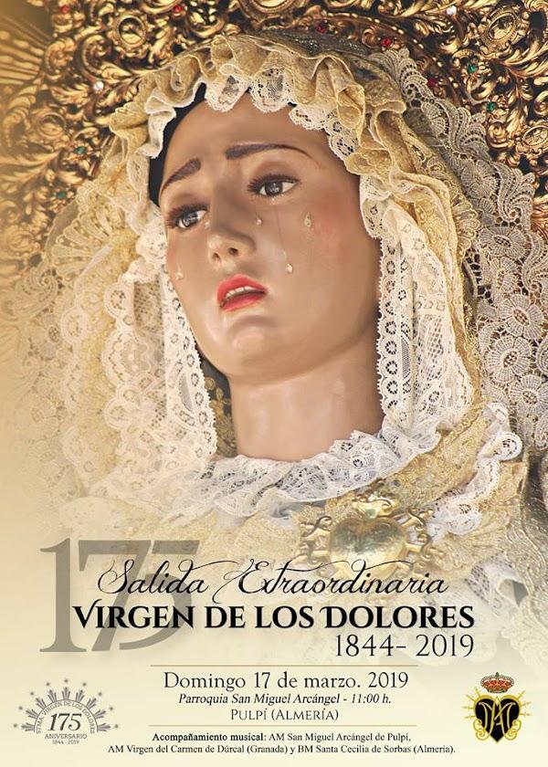 Procesión Extraordinaria de la Stma. Virgen de los Dolores de Pulpi