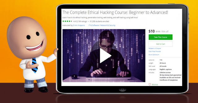 [95% Off] The Complete Ethical Hacking Course: Beginner to Advanced!| Worth 195$