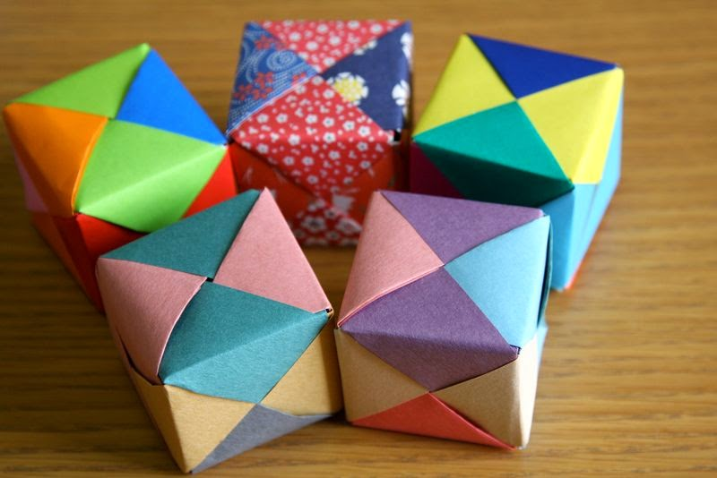 Origami - How to make a easy origami cube (3D) - YouTube | 534x800