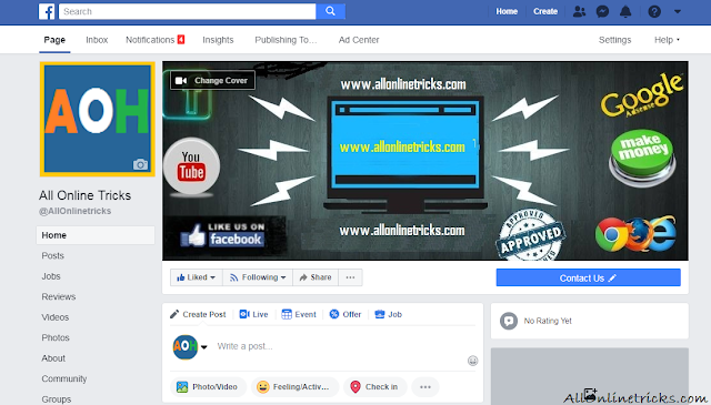 Create Facebook Like Page For Blog Website - 5 Simple Step