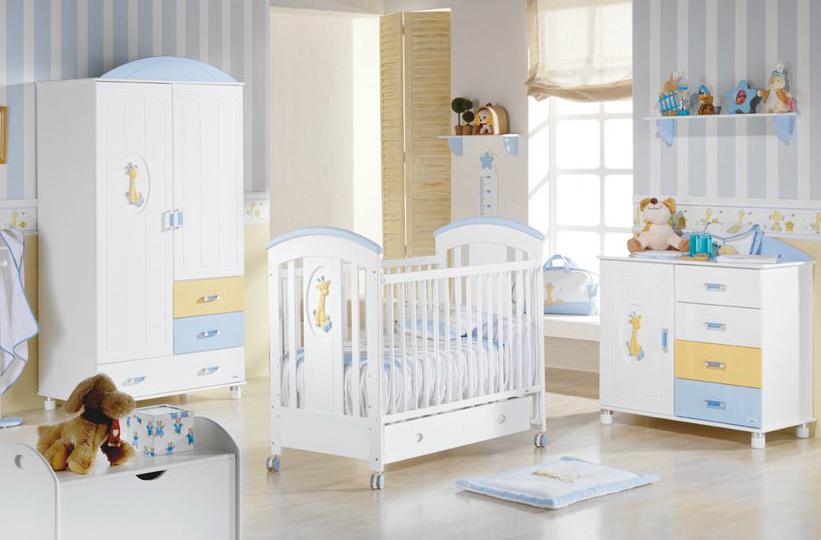 Deco dormitorios for Dormitorio bebe varon