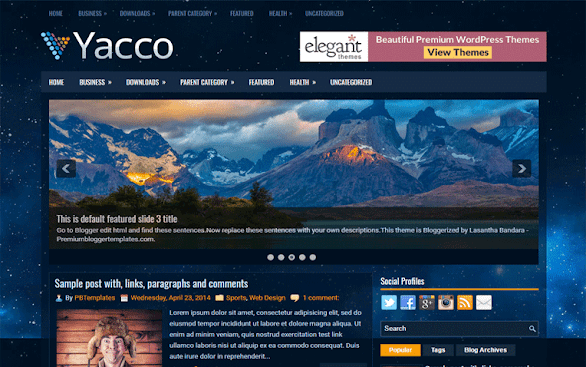 Yacco Free Blogger Template