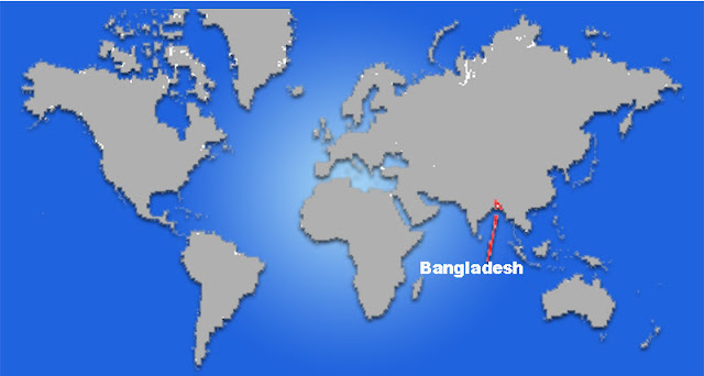 Gambar Peta letak negara Bangladesh