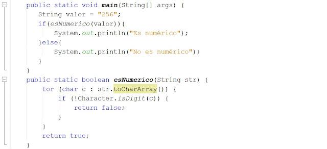 Verificar si una variable String contiene un valor entero