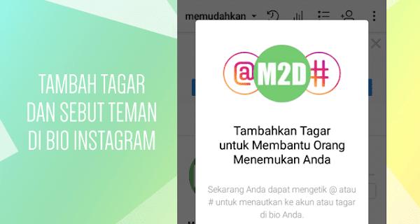 Menambahkan Hashtag dan Profile Link di Bio Instagram
