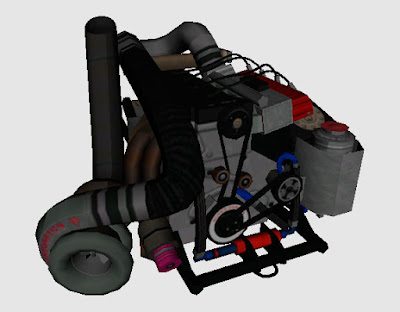 motor de drag turbo no zmodeler (gta sa)