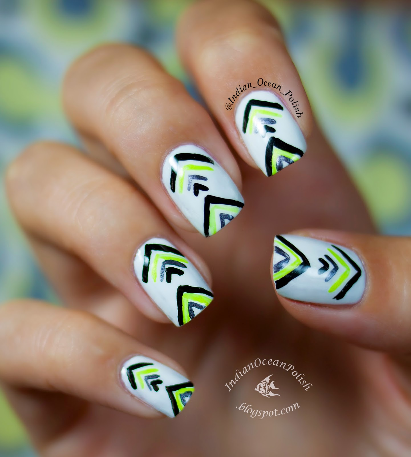 Indian Ocean Polish: Simple Handpainted Tribal? Design