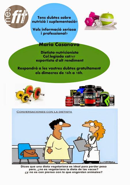 Cartel informativo de servicio dietista