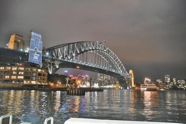 Sydney Harbour Bridge photo at night