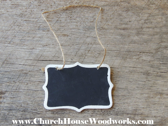 "Tiny Hanging Faux Chalkboard Blackboard Signs For Decorations- 2"" x 3"" Imperfections"