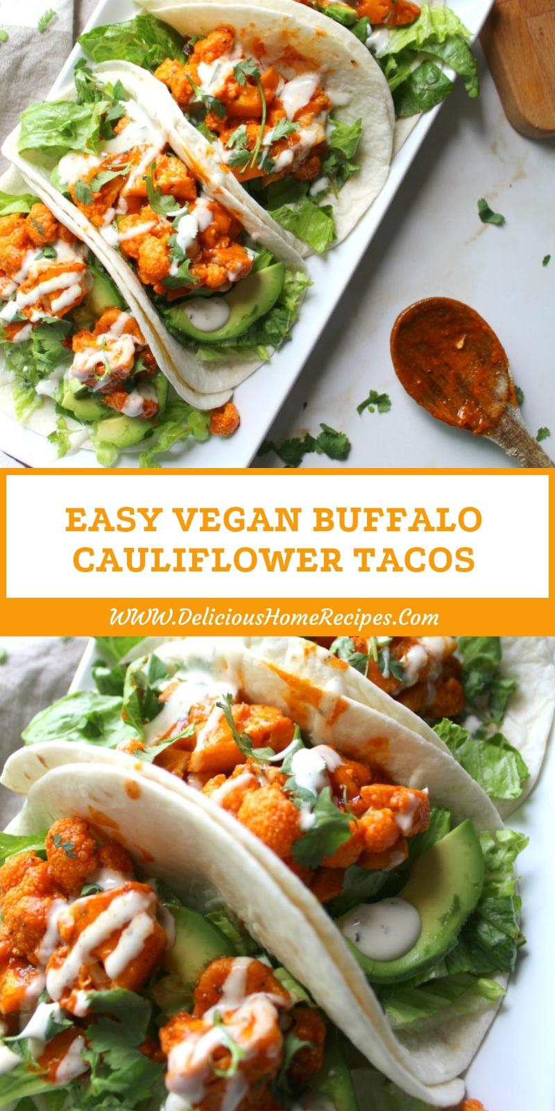 Easy Vegan Buffalo Cauliflower Tacos