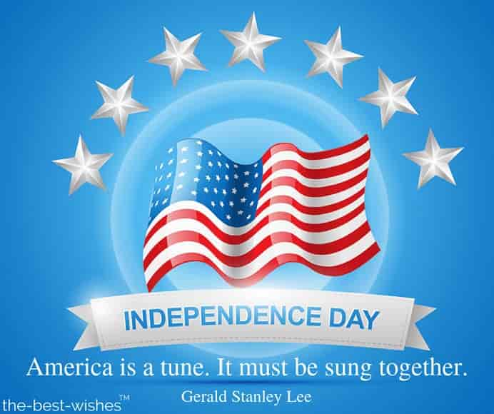 america is a tune quote by gerald stanley lee