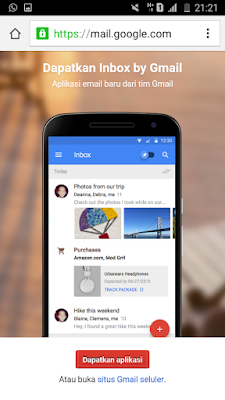 Buka gmail.com