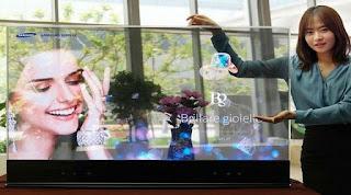 tv transparan dari samsung